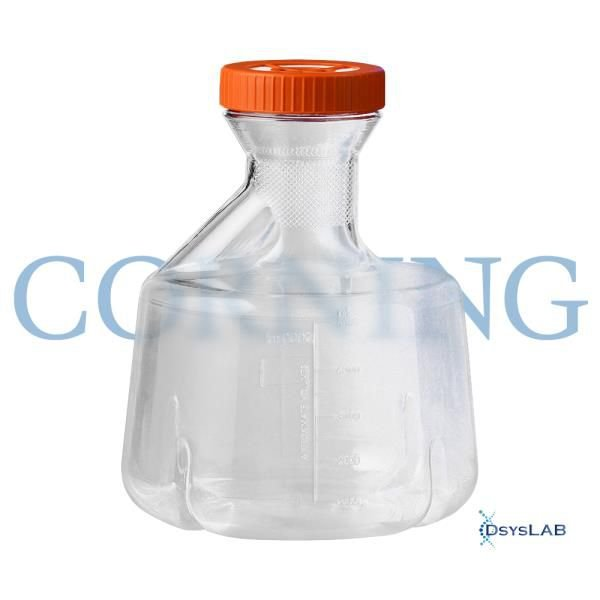 Erlenmeyer c Baffle Corning® 5L Policarb tipo Fernbach c Tampa Vent, Mod. 431684 (CORNING)