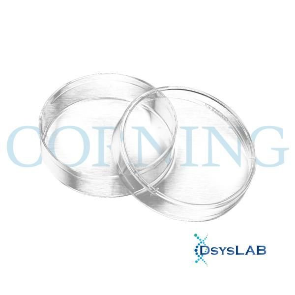 Placa de Petri 100x20mm, PS, não tratada, Estéril, caixa com 500 unidades, mod.: 430591 (Corning)