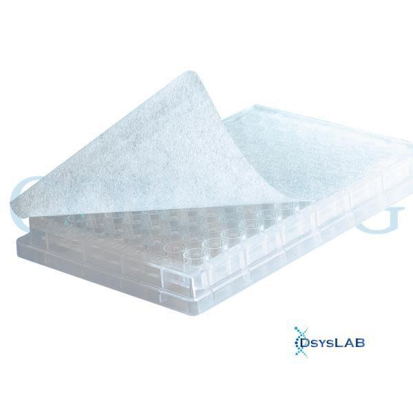 Filme selador respirável para microplacas de 384 poços, Caixa externa com 10 caixas contendo 50 unidades, mod.: 3345 (Corning)