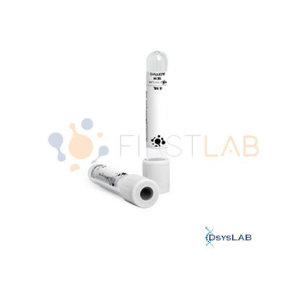 Tubo para coleta a vácuo sem aditivo, 9,0 ml, plástico, branco, rack com 100 unidades, mod.: FL5-009L (Firstlab)