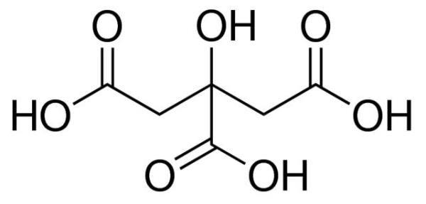 Ácido cítrico anidro P.A, Frasco com 1000 gramas, mod.: 00172 (Neon)