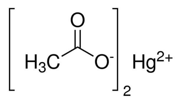 Acetato de Mercúrio II P.A., CAS 1600-27-7, Frasco com 100 gramas, mod.: 00065 (Neon)