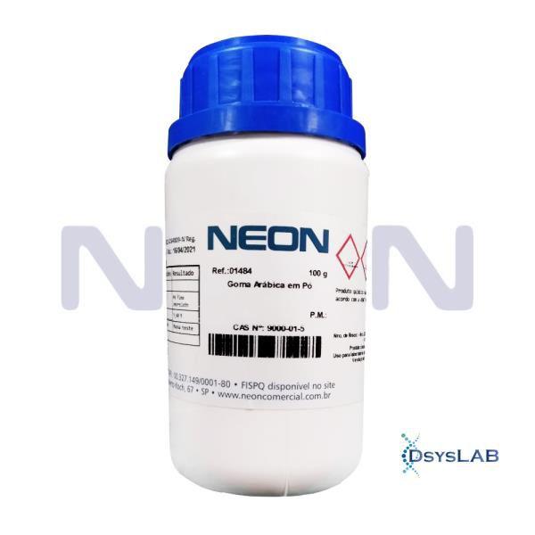 Goma Arábica em Pó, CAS 9000-01-5, Frasco com 100 gramas, mod.: 01484-DSYS (Neon)