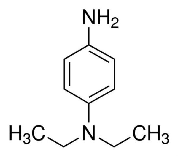 N,N-Dietil-1,4-Fenilenodiamina, CAS 93-05-0, Frasco com 100 gramas, mod.: 3718-DSYS (Neon)