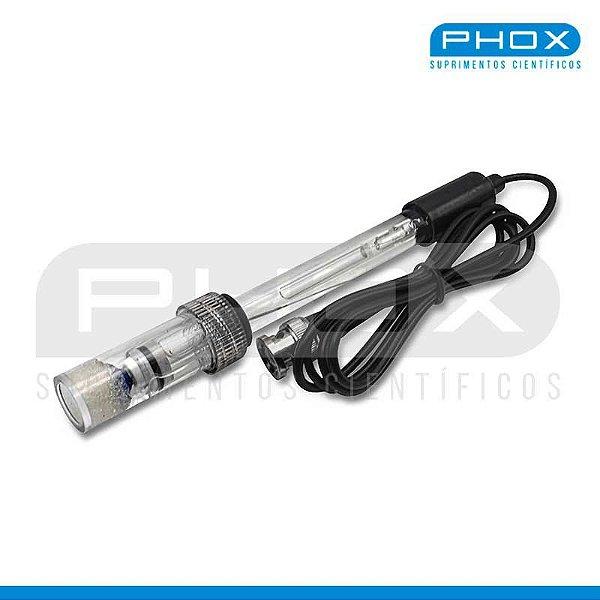 Eletrodo para medidores de pH, vidro, conexão BNC universal, soluções aquosas, blindado, mod.: F64 (Phox)
