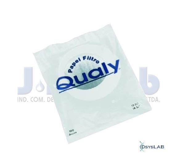 Papel de Filtro Qualitativo, 80 gramas, 21 cm diâmetro, pacote c/100 folhas, mod.: 3023-3 (J.Prolab)