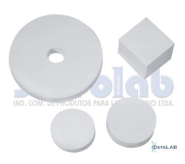 Papel de Filtro Qualitativo, 250 gramas, 4,6 cm diâmetro, pacote c/100 folhas, mod.: 1075-0 (J.Prolab)