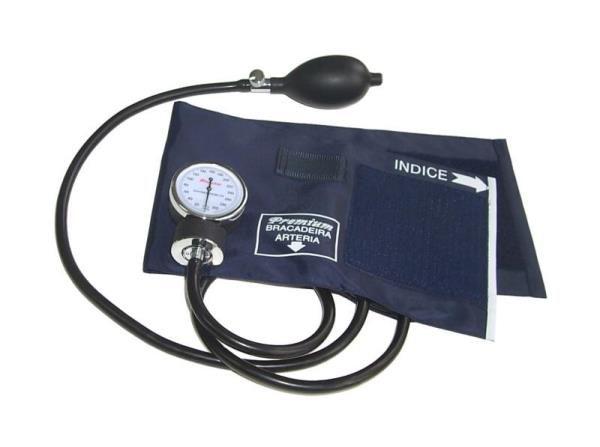 Esfigmo Aneróide nylon fecho velcro com esteto Adulto/adolescente (circ. de braço: 18-35 cm) (Premium)