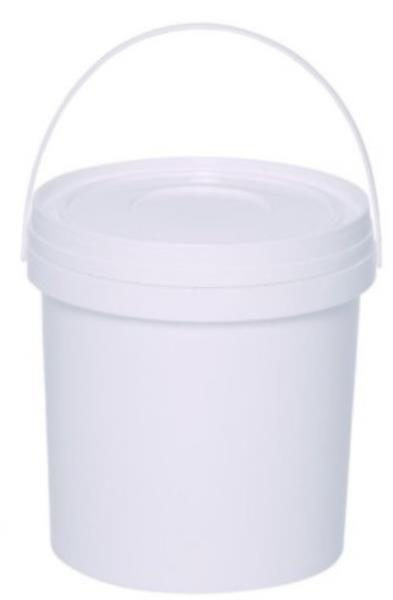 Balde de 5 litros, plástico leitoso, branco, mod.: BALDE-5L (Abplast)