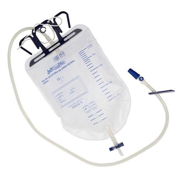 Coletor Urina Sistema Fechado 2000 mL, Estéril, unidade, mod.: COLURCP2L004 (Advantive)