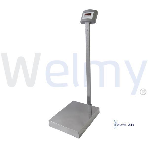 Balança Eletrônica Adulto Plataforma, Cinza, Até 300 kg, mod.: W 300 (Welmy)
