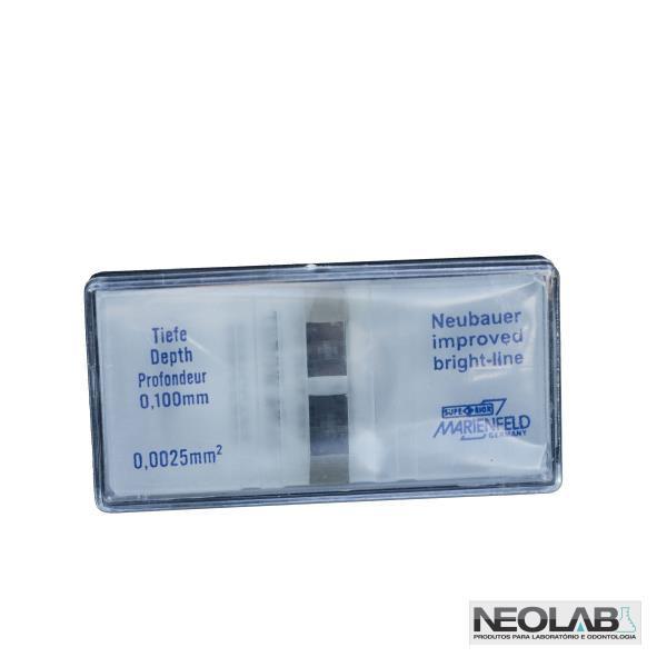 Camara de Neubauer Melhorada Espelhada, 80 Compartimentos, Profundidade 0,100 mm, Resolução 0,0025 mm², mod.: NLD634-1 (Neolab)