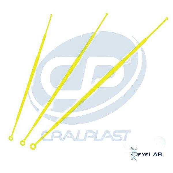 Alça 01 uL descartável e estéril, individual, pacote com 100 unidades, mod.: 182861P-PCT (Cralplast)