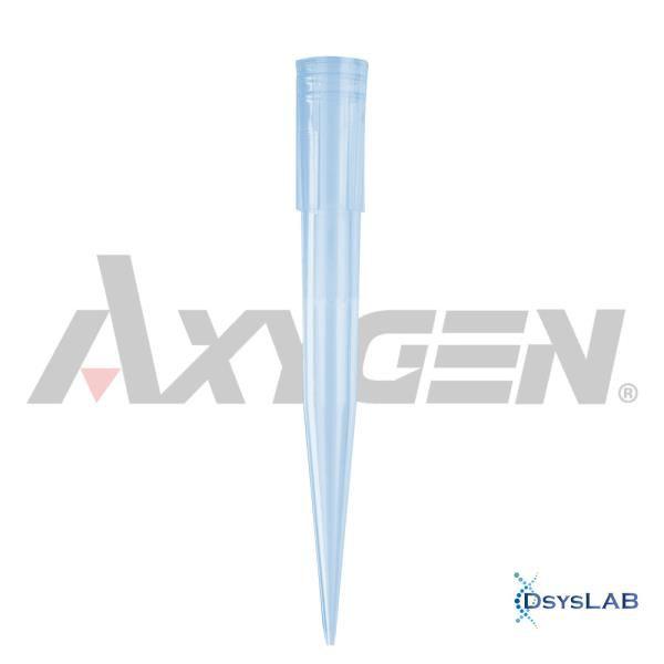 Ponteira 100-1000 uL, sem filtro, PP, azul, estéril, caixa com 5.000 unidades, mod.: T-1000-B-R-S (Axygen)
