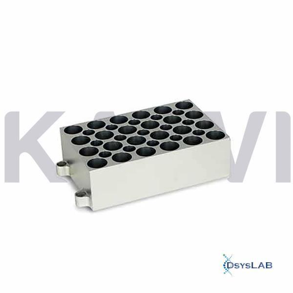 Bloco para 24 tubos de 5 ml para banho seco modelos K80-100/200, K80-01/02 eK80-120R, unidade K80-2450 (Kasvi)