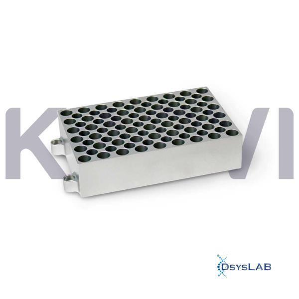 Bloco para 54 tubos de 0,5 ml para banho seco modelos K80-100/200, K80-01/02 e K80-120R, unidade K80-5405 (Kasvi)