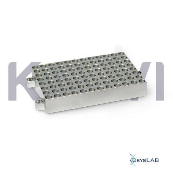 Bloco para 96 tubos de 0,2ml para banho seco modelos K80-100/200, K80-01/02 e K80-120R, unidade K80-9602 (Kasvi)