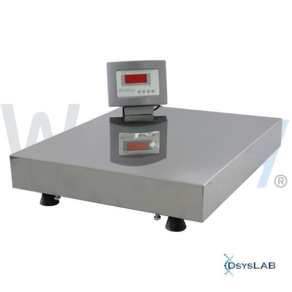 Balança Eletrônica Adulto Sem Coluna, Plataforma 40x50cm, display LED, cor cinza, até 300 kg W300-LED-S/C (Welmy)