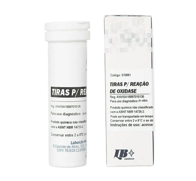 Tira de oxidase, Frasco com 10 tiras 570661 (Laborclin)