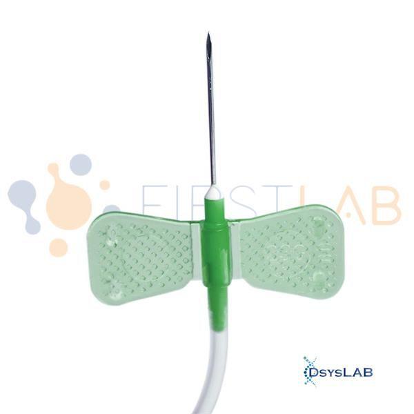 Escalpe para coleta e de sangue a vácuo, 21g, Caixa com 50 unidades FL5-E21G (Firstlab)
