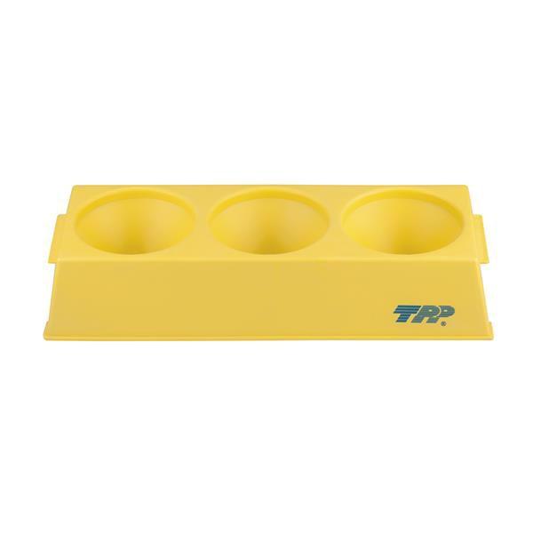 Rack para tubos 3 Tubos Biorreator de 450mL/600mL, PP, cor amarela, autoclavável, unidade, mod.: 99013 (TPP)