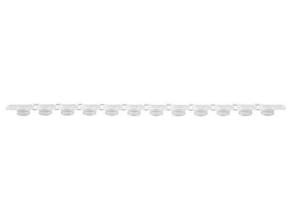 Tiras de microtubos e tampa para PCR em tiras de 12x0,2ml, transparente, Caixa com 800 unidadesPCR-0212-FCP-C (Axygen)