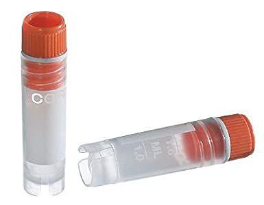 Tubo criogênico 1,2mL, fundo redondo autossustentável, rosca externa, caixa com 500 unidades, Mod. 430658 (Corning)