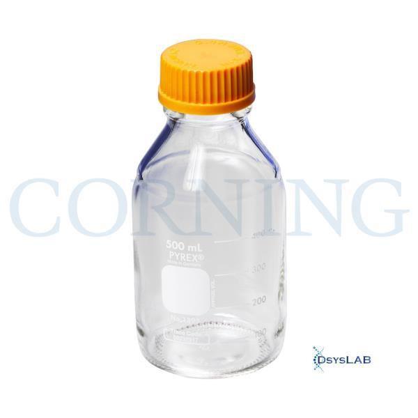 Frasco reagente de vidro, tampa em polipropileno com conexão GL45, capacidade de 250 ml, Unidade, mod.: 1395-250-UND (Pyrex)