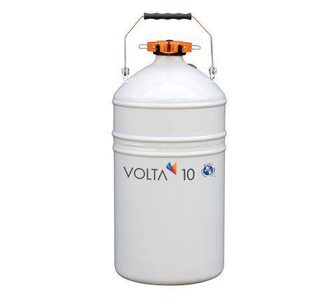 Recipiente criogênico (Botijão), capacidade de 11 litros, armazena até 6 canecas, unitário, mod.: VOLTA 10 (Volta)