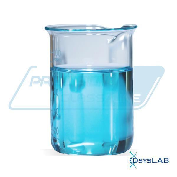 Copo béquer forma alta em borossilicato, capacidade de 250 ml, unidade BEFA250 (Precision)