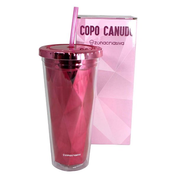COPO CANUDO DIAMOND - 650ML