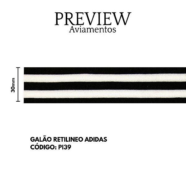 GALAO RETILINEA ADIDAS PTO/BCO 30MM