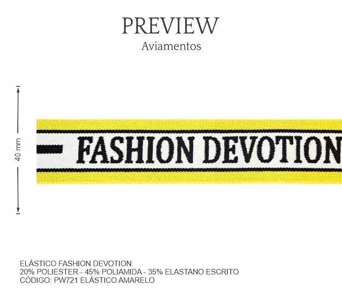 ELÁSTICO FASHION DEVOTION / LARG. 40MM