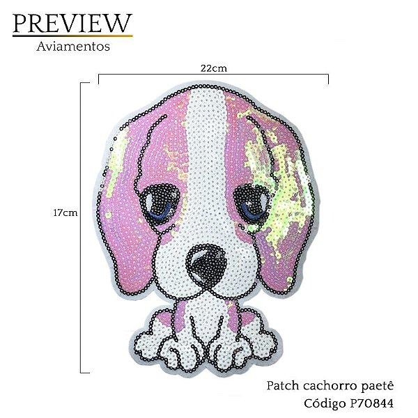 Patch Cachorro paetê c/ 10 unid - P70844