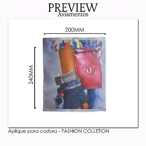 APLIQUE PARA COSTURA FASHION COLLECTION / MÍNIMO: 5U / 220X225MM