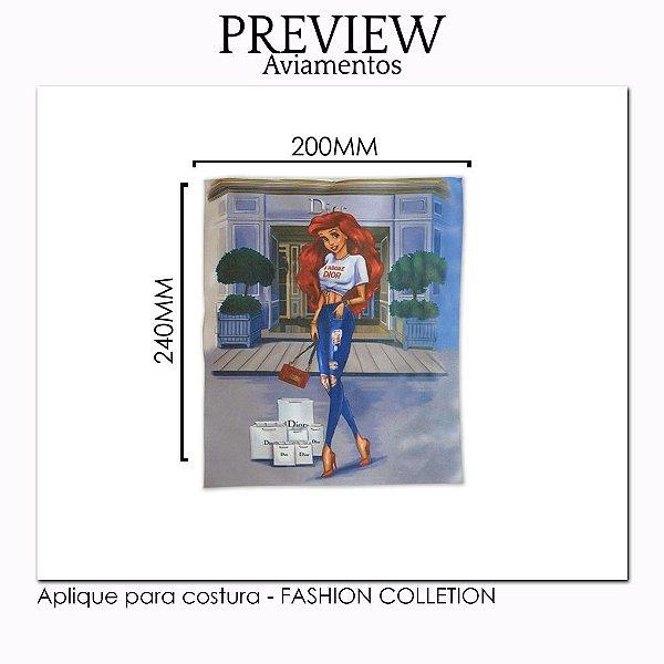 APLIQUE PARA COSTURA FASHION COLLECTION / MÍNIMO: 5U / 220X240MM