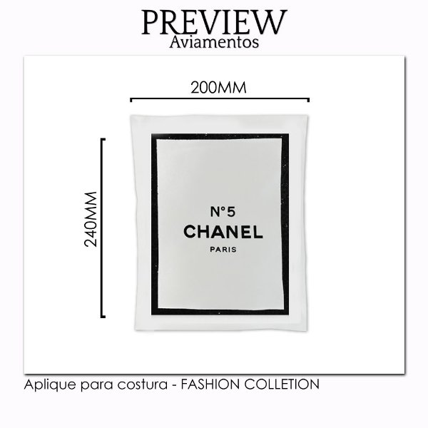 Aplique para costura FASHION COLLECTION - Pct c/ 5 pc - 220x240MM - 100% Poliéster