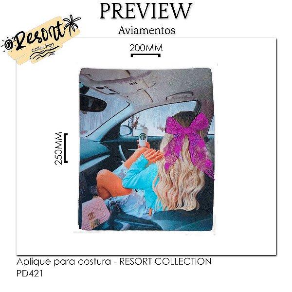 Aplique para costura RESORT COLLECTION - CUSTOMIZADO / MÍNIMO: 10U / 220x220MM - 100% Poliéster