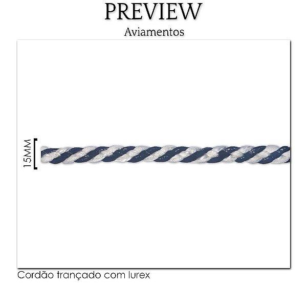 PASSAMANARIA CORDÃO TRANÇADO C/ LUREX /  LARG. 15MM