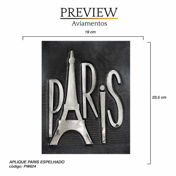 APLIQUE DE COSTURA PARIS 23,5CM X 19CM