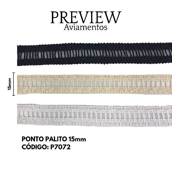 PONTO PALITO  LARG 15 MM 100%ALGODÃO