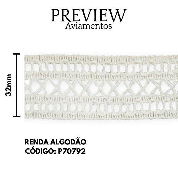 RENDA ALGODÃO  COMP:100% ALGODAO 3CM