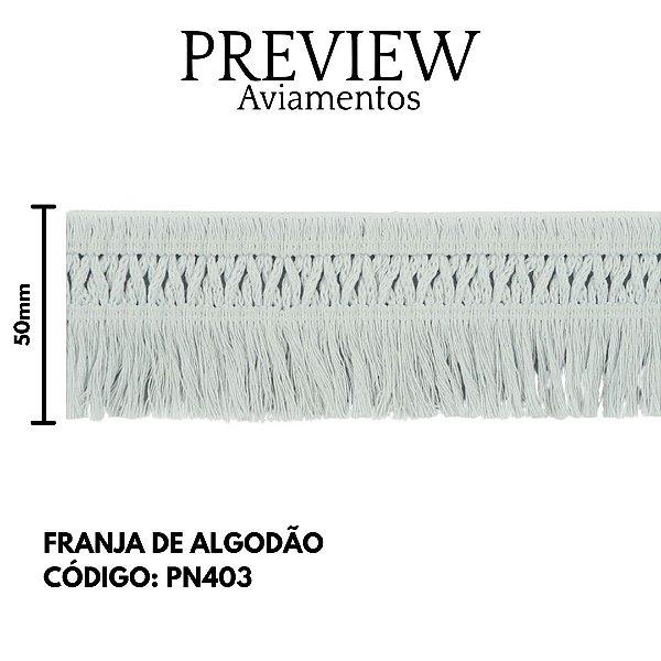 FRANJA DE ALGODAO COM ELASTANO 88% ALGODÃO 6% ELASTODIENO 6%POLIAMIDA 10MT 55MM