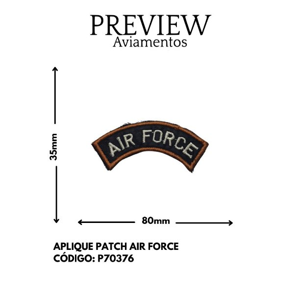 APLIQUE TERMOCOLANTE AIR FORCE 35MMX80MM