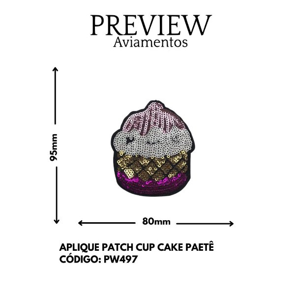 PATCHWORK CUP CAKE PAETE 95MMX80MM