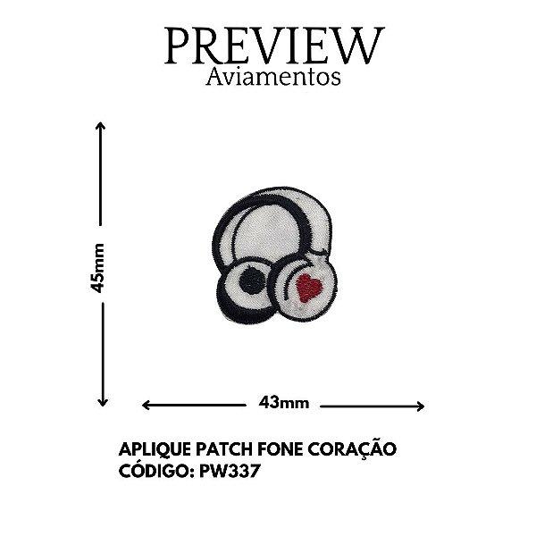 PATCHWORK FONE DE OUVIDO 45MMX45MM