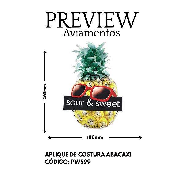 PATCH DE ABACAXI DE OCULOS SOUR & SWEET LARG APROX: 265MMX180MM