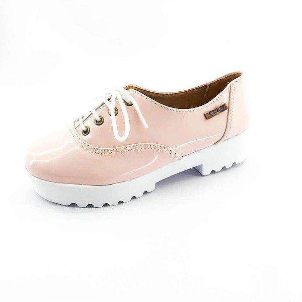 Tênis Tratorado Quality Shoes Feminino 005 Verniz Rosa