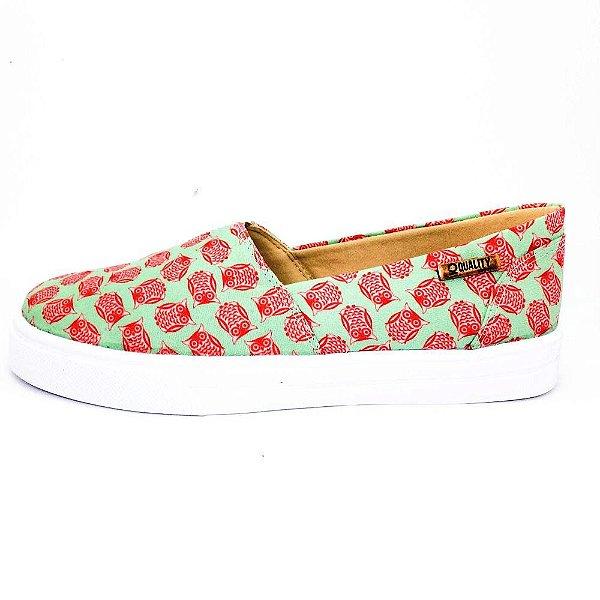 Tênis Slip On Quality Shoes Feminino 002 Coruja