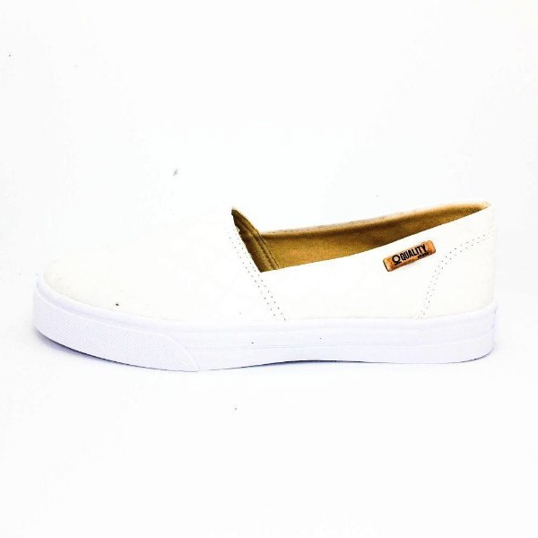 Tênis Slip On Quality Shoes Feminino 002 Croco Branco